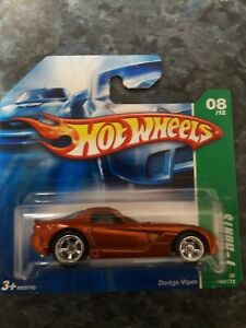 Hot Wheels T-hunt$ Dodge Viper . In Mint Condition On Short Card