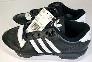 Men's Adidas Originals Rivalry Low OG Shoes Core Black/White EG8063 Sz. 4.5