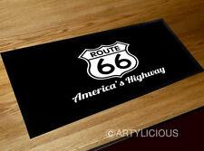 Route 66 usa american highway bar runner beer counter mat