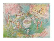 """Station Spatiale"" by Roberto Matta Lithograph on Paper LE of 200 30"" x 22"""
