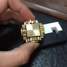 Fidget Cube Spinner Linkage 4 Gears Spin Finger Games Metal Brass Adult Desk Toy