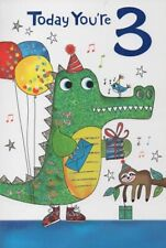 Today You're 3 - Age 3 Birthday Card
