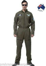 Air Force Top Gun Handsome Pilot Costume Fighter Uniform Fancy Dress Party