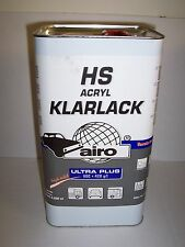 2K HS Clearcoat Lacquer  5 litre  VOC Compliant (420g)  High Quality Airo Clear