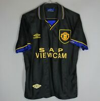 MANCHESTER UNITED 1993/1994/1995 AWAY FOOTBALL SHIRT JERSEY UMBRO SIZE S ADULT