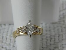 Marques Diamond Engagement Ring 1.41tw ,14K Gold, GIA
