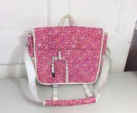 JANSPORT Pink Floral Messenger Bag Crossbody Perfect For School