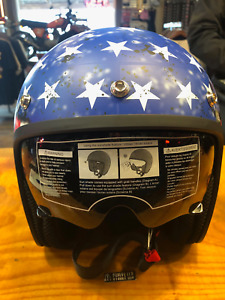 Z1R Red White Blue American Flag Eagle justice Open Face Motorcycle 3/4 Helmet