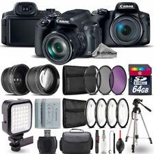 Canon PowerShot SX70 HS Camera + Wide Angle & Telephoto Lens + LED - 64GB Kit