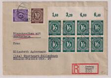 Gemeinsch.Ausg. Mi.923/8er P OR ndgz, R-Amberg, 29.8.47