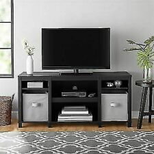 Mainstays MS17D1100693 Parsons Cubby TV Stand - Black