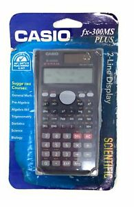 Casio Scientific Calculator FX-300MS Plus Permitted On Tests 2-Line Display