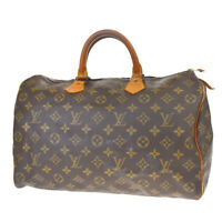 Auth LOUIS VUITTON Speedy 35 Travel Hand Bag Monogram Leather M41524 31MF034