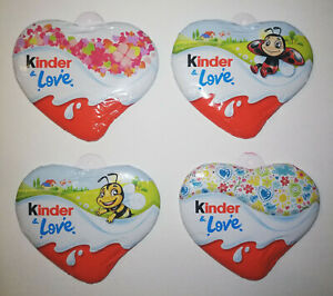 KINDER & LOVE CHOCOLATE HEARTS - COMPLETE SET OF 4 - FERRERO EASTER 2021