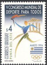 Uruguay 1994 Olympic Games/Olympics/Sport/Torch/Flag/Animation 1v (n22704)
