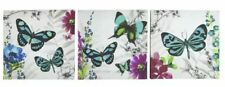 EXOTIC Butterflies Set of 3 Canvas Wall Art Picture Wall Hanging Home Decor New