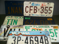 American License Plate (rough condition) - Loads to choose from