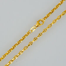 NEW Pure 18K Yellow Gold Necklace Special Anchor Link Chain 18 inch L