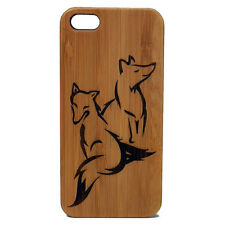 Fox Case for iPhone 6 6S Bamboo Wood Cover Foxy Friends Couple Woodlan