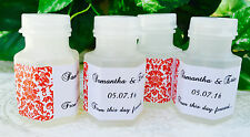 210 RED DAMASK MINI BUBBLE LABELS Personalized for WEDDING or Party FAVORS!