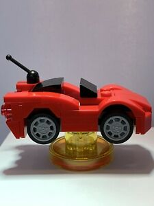 LEGO Dimensions Gremlins Red Car From Set 71256 - Car And Tag Only - Used