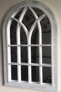 Soho Window Style Mirror Arched Brand New -distressed Rustic Look