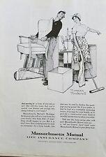 1959 Massachusetts Mutual Life Insurance Co Norman Rockwell Furniture vacuum ad