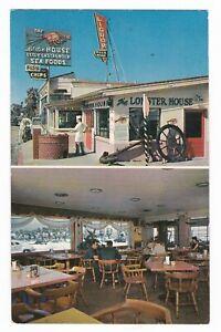 c1960 VENTURA SANTA BARBARA CALIFORNIA LOBSTER HOUSE NEON SIGN OLD POSTCARD CA !