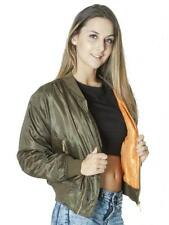 Bomber Casual Regular Size Coats & Jackets for Women