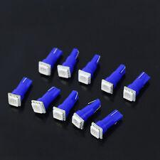 10pcs T5 70 73 74 Wedge Ultra 1-SMD Car Blue LED Dashboard Lights Gauge Cluster