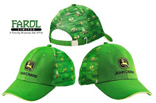 Genuine John Deere Johnny trattore e Amici Bambini Cap Hat Green Kids
