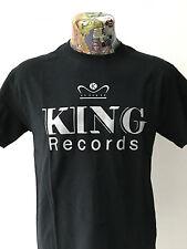 ***NEW*** 'KING RECORDS' BLACK T SHIRT ROCKABILLY HILLBILLY 40s/50s FREEPOST