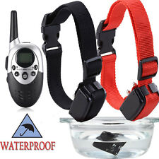 2X 1000 Yard Rechargeable Electric E-Collar Remote Pet Dog Shock Training Collar