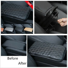 30X21cm Smooth PU Leather Armrests Pad Console Box Protector Dust-proof Black