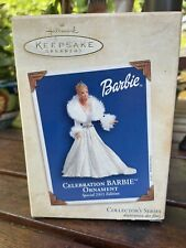 Hallmark Ornament 2003 Celebration Barbie Holiday Collector's Series Box Only