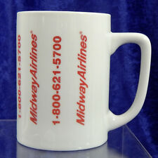 Midway Airlines Vintage 1980s Promotional Coffee Mug Cup