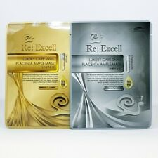 Re:Excell Luxury Care Snail Placenta Ample Mask 2 Type Lifting 5ea Whitening 5ea
