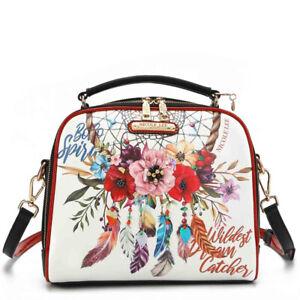 NICOLE LEE DESIGNER BOW16085 BOHEMIAN WHITE BAG