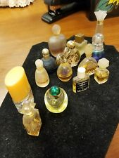 Vintage Lot Of 14 Mini Perfume Bottles