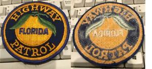 Earliest issue Florida Highway Patrol Patch plastic backing free ship