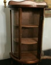 "Wooden Curio Cabinet- Hand Made- Tabletop- 23"" tall."