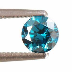 Brilliant 0.14Ct Round Shape 100% Certified Natural Earthmind Blue Loose Diamond