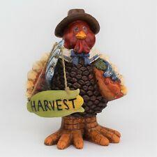 "8.5"" Resin Harvest Turkey Figurine Thanksgiving & Fall Decor"