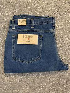 RedHead Mens Classic Fit Straight Leg Medium Wash Denim Blue Jeans 44x30 NEW!