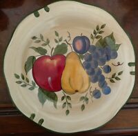 "Home Trends Granada Fruit Pattern Ceramic DINNER PLATE 11""  Lot 4 EXCELLENT COND"