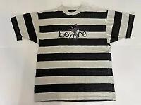 Vintage Disney USA Made Unisex Striped Pooh Embroidered Eeyore T Shirt Rare L/XL