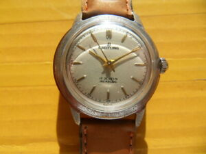 Vintage SWISS BREITLING 17 Jewels Manual Men's Watch,1952's,Military style