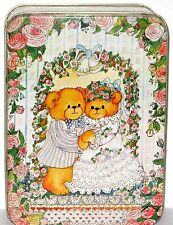 Bright Colorful Two Bears Being Married Tin.