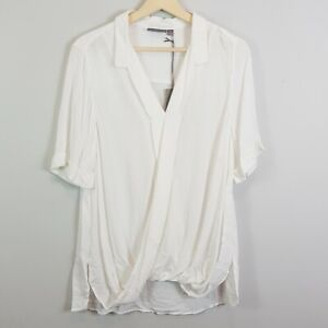 [ SUSSAN ] Womens Faux wrap Blouse Top NEW  | Size AU 12 or US 8