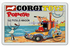 CORGI TOYS 802 POPEYE'S PADDLE - WAGON BOX ART NEW JUMBO FRIDGE LOCKER MAGNET